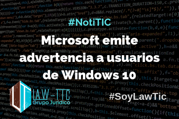 Microsoft emite advertencia a usuarios de Windows 10